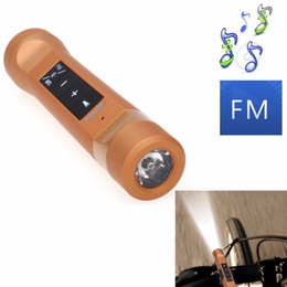 Wholesale Multi Function Speakers Australia - 4 in 1 Multi-function Wireless Bluetooth Speaker LED Flashlight Outdoor Bike Cycling Torch Light With Power Bank Speakers Support TF FM MP3