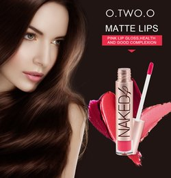 $enCountryForm.capitalKeyWord NZ - O.TWO.O Brand 4colors Cosmetics Makeup Lip Gloss Long Lasting Waterproof Easy to Wear Make up Best Sale Matte Lipstick