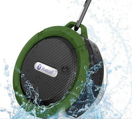 Portable radio batteries online shopping - Cheap Price Bluetooth Wireless Speakers Waterproof Shower C6 Speaker with W Strong Driver Long Battery Life many colors