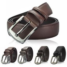 wholesale belts for men 2019 - 2017 New hot PU leather mens belt black pin buckle belts for men designer famous belt luxury male strap cheap wholesale