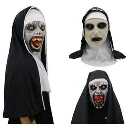 $enCountryForm.capitalKeyWord NZ - Halloween The Nun Horror Mask Cosplay Valak Scary Latex Masks Full Face Helmet Demon Halloween Party Costume Props promotion