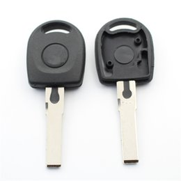 chip can NZ - 10Pcs lot For Vw Passat B5 Polo Bora Blank Transponder Key Shell Case Can Install Chip With Logo S201