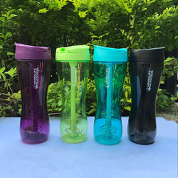 500ML 17oz Outdoor Sport Herbalife Water Bottle Shake Cup Fit Tritan Cycling Camp Nutrition Hiking Drink Stainless Steel Wire Whisk Portable