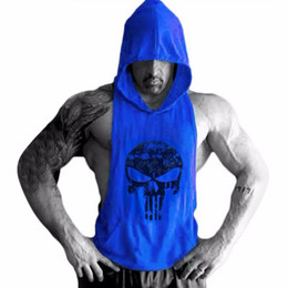 Wholesale Skull Golds Bodybuilding Hoodie Tank Tops Mens Gyms Stringer Shirt Fitness Tank Top Men Gyms Undershirt Cotton Vest Fashion