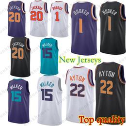 Phoenix Suns jersey 1 Devin Booker Phoenix jerseys 22 DeAndre Ayton 20 Josh  Jackson 15 Kemba Walker Top quality jerseys 3386c856c