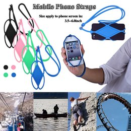 Cell Phone Pouch Neck Australia - Universal Silicone Cell Phone Lanyard Holder Case Cover Phone Neck Strap Necklace Sling For iPhone 6 7 5s HTC Samsung Xiaomi