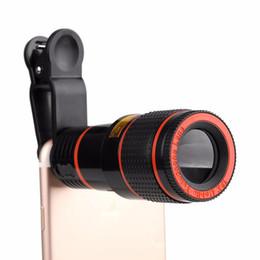 fc68dbb4b6ac43 For Huawei iPhone Samsung Universal Clip 8X 12X Zoom Mobile Phone Telescope  Lens Telephoto External Smartphone Camera Lens