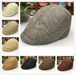Sombrero de boina de pico de verano Sombrero de vendedor de periódicos Gorras  Gorras de golf Conducción Cabbie boina Gatsby Gorra plana sombrero de lino  9 ... 6e258fc3dcd