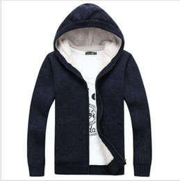 Vestido Jacquard Suéter Baratos-Brand Man Sweater 2018 Winter Dress Cálido grueso Stand Collar suéter Mens Casual cremallera de punto Jacquard Cardigans Mens jumpers