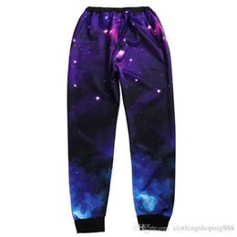 $enCountryForm.capitalKeyWord NZ - 2018 comfortable fabric 3D printing Wei pants jogging explosion Mens Blue sky wind pedal pants women Pedal pants