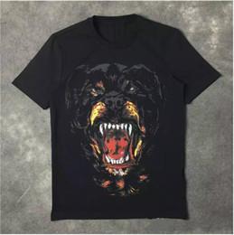 Black Shirt For Dog NZ - New Fashion Rottweiler dog print High quality O-neck Black tee t shirts for men women cotton free shipping