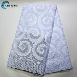 $enCountryForm.capitalKeyWord Australia - Hot White Swiss Voile Lace In Switzerland 100% Cotton 5 Yards African Lace Fabric With Stones For Beautiful Wedding Bridal Dress