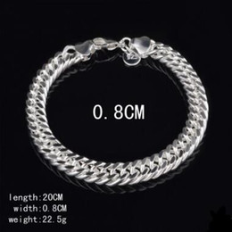 Sterling Silver Figaro Bracelet NZ - 8MM 10MM 925 Sterling silver Bracelets Figaro chain bracelet Men Bracelet Fashion Jewelry