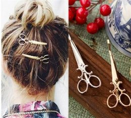 nice girl hair accessories 2019 - Women Lady Girls Scissors Shape Hair Clip Barrettes Hairpin nice Hair Decorations Accessories R227 discount nice girl ha
