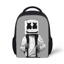 6ef7839a3306 Школьная сумка Marshmello рюкзак для детей мальчик девушки женский рюкзак  печать школьный школьный школьные принадлежности повседневная Маска DJ ранец