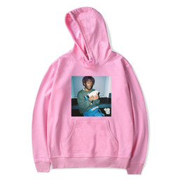 Wholesale men pullover v neck for sale – oversize Mens High Street Hooded Hoodies Rapper Lil Uzi Vert Print V Neck Sweatshirts Men Women Hip Hop Loose Winter Hoodies Plus Size XS XL