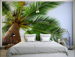 $enCountryForm.capitalKeyWord NZ - 3d Stereoscopic Wallpaper Beach style coconut tree Wall papers Home Decor Living Room Photo Wall Murals Wall paper 3d Modern Rolls