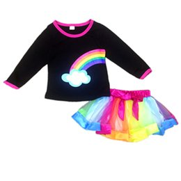 $enCountryForm.capitalKeyWord UK - Baby girl suit 2018 new Christmas children tutu gauze skirt rainbow coat skirt two pieces sets Kids fashion clothing set
