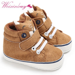 $enCountryForm.capitalKeyWord Canada - CuteAutumn Baby Shoes Kid Boy Girl Fox Cotton Cloth First Walker Anti-slip Soft Sole Toddler Sneaker 1 Pair