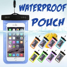diving pouch UK - Waterproof Case Cover PVC Universal Phone Pouch Dry Diving Swimming Bag For iPhone XS Plus X 8 7 6 6S Samsung Galaxy Note 9 S9 Huawei Xiaomi