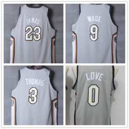 35f2d0f6f 23 LeBron James 1 Derrick Rose 3 Isaiah Thomas 9 Dwyane Wade Men s City  Basketball Jerseys New Fashion Mens polo shirt