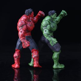 Red Hulk Figures Australia - 26cm Red And Green Hulk Action Figure The Avengers Series Kid Figures Model Toy Adjustable Movie Lovers Collection 53hl WW