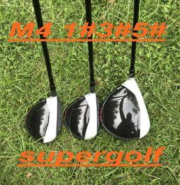 Venta al por mayor de 2018 Nuevo golf driver 3 # 5 # maderas de calle con grafito eje rígido tapa / llave 3pcs palos de golf