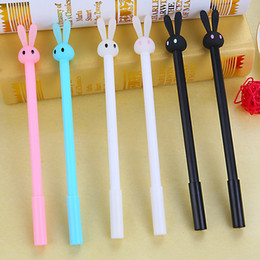 Stationery Australia - 4 Pcs lot Cartoon Rabbit Gel pens cute gel pen stationery School & Office &Promotional Supplies papelaria Students Writing gifts