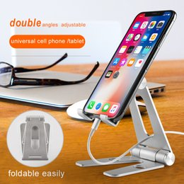 $enCountryForm.capitalKeyWord Australia - CJ0803 Universal adjustable Aluminum Alloy Cell Phone Tablet PC Desk Holder Mount Metal Foldable tablet Mobile Stand for iphone samsung