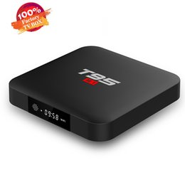 t95 android tv box UK - Factory OEM T95 S1 2GB 16GB Android 7.1 TV Box Amlogic S905W Quad Core STB tv boxes 4K streaming player