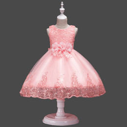 $enCountryForm.capitalKeyWord Australia - Halloween Gifts Sequin Lace Flower Girls Dresses Vintage Appliques Hand Made Flowers Big Bow Sash Princess Girls Tulle Ball Gown Dresses D02