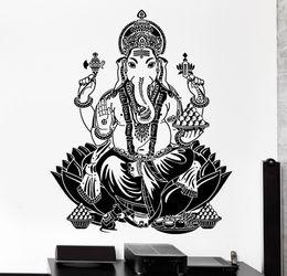 $enCountryForm.capitalKeyWord UK - Buddha Dance Indian Hinduism Wall Sticker Home Decor Wall Decal Elephant Ganesh Buddhism Indian Namaste Buddha Om Yoga God D176