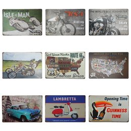 Buddhism posters online shopping - 20 cm Locomotive Tin Signs Motorcycle Riding For Enjoy Tin Poster Lambretta Route US Iron Painting Hot Sale ZB