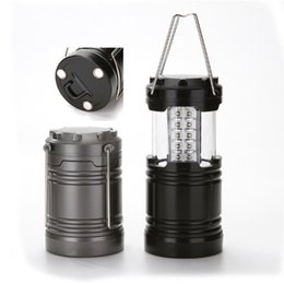 Lamp for camping online shopping - LED camping lamp outdoor collapsible lantern emergency Flashlights Portable Black Collapsible For Hiking Camping Halloween Christmas
