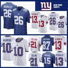 87c575d92 Stitched 26 Saquon Barkley jersey New York Gaints 13 Odell Beckham Jr 10  Eli Manning 21 Landon Collins 87 Sterling Shepard Marshall Engram