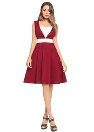$enCountryForm.capitalKeyWord UK - 2018New Women's slim Panelled retro Hepburn dresses Fashion Dresses elegant frock A-Line Dress Size S M L XL 2XL