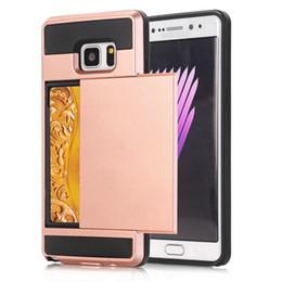 Discount samsung grand prime black - Slide Card Holder Case For Samsung Galaxy Note 8 5 4 ON5 2016 ON7 J5 Prime J7 G530 Grand Prime Shockproof Cover Card Poc