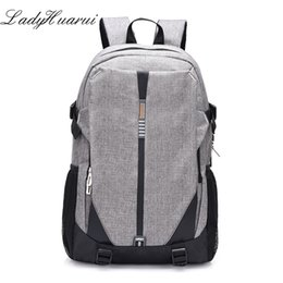c48da401182a 2018 High School Bags for Teenage Book Bag Teen Canvas Men Backpack Cool  Boys girls USB Schoolbag Male Back pack Laptop Women