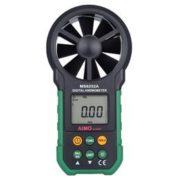 Digital Air Flow Meters NZ - new Digital Anemometer Wind Speed AIMO Meter MS6252A Professional Air Flow Volume Measuring Meter with LCD Display Vane Anemometers