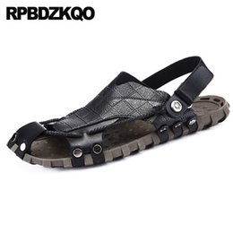 $enCountryForm.capitalKeyWord Canada - Sneakers Men Sandals Leather Summer Soft Fashion Mules Outdoor Closed Toe Native Designer Black Shoes Sport Slides Slippers