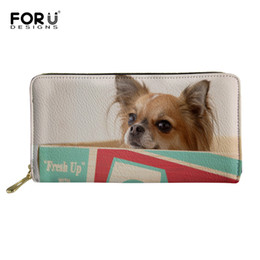 trendy purses wallets 2019 - FORUDESIGNS Cute Animal Papillon Dog Pattern Women's Wallet Purse Trendy Ladies Multifunction Purses Organizer Wall