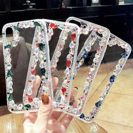 diamond x NZ - For iPhone X 8 7 6 6S Plus Luxury Laday Bling Diamond Soft Transparent Clear TPU Phone Covers Cases Accessories For iPhone X