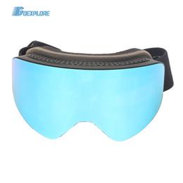 Discount protect gear - Goexplore Ski Goggles Men Windproof Snow Glasses Ski Gear Spherical lens UV protect Anti-fog Snowboard Skiing Eyewear Wo