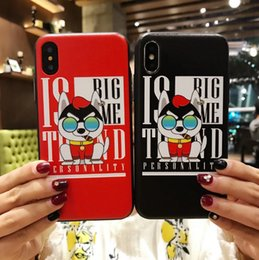 $enCountryForm.capitalKeyWord Canada - For Iphone 8 Phone Cases Cigar Dog Smoking Wear Glasses Cartoon Embossed Painting Cell Phone Case For Iphone 6 7 X Plus