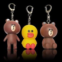 Cute bear for Car online shopping - Super Lovely Soft PVC Key Ring Cartoon Duck Bear Cute Design Keychain Kid Favor For Novelty Gifts Keys Buckle Charms gy Z