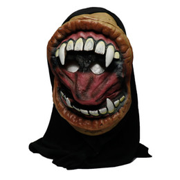 Chinese  2018 Hot New arrival High quality Halloween party big mouth grimace monster silicone horror mask party decorations manufacturers