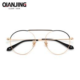 28fdc6fa6b6 width-136 Ultra light pure titanium full frame wrap retro female thin optical  eyeglasses frame men male eyewear Spectacle