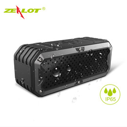 New ZEALOT S6 Waterproof Portable Wireless Bluetooth Speakers Power Bank Built-in 5200mAh Battery Dual Drivers Subwoofer Aux on Sale