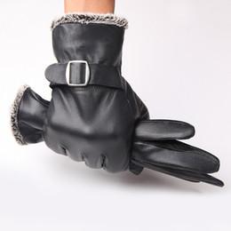 Men Gloves Leather Sheepskin Australia - New Designer Men Gloves Drive 100% Genuine Leather Sheepskin Mittens Warm Winter Gloves for Fashion Male Glove Luvas B-5942