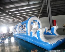 Venta al por mayor de Resbalón inflable del grado comercial del PVC 2018 modificó el deslizamiento y el resbalón grandes inflables de la tierra para requisitos particulares
